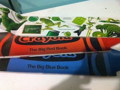 Lot of 4 Large Crayon Color Books Learning Colors