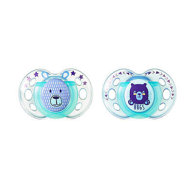 Tommee Tippee 18-36 Months 2 Pack Night Time Pacifier - Hugs