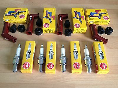 Suzuki Gs550 Gs750 Gs850 Gs1000 Gs1100 Ngk Spark Plugs And Caps Free Post!