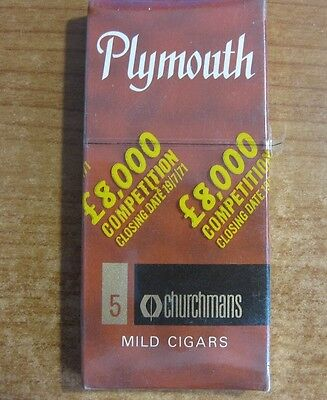 Plymouth Vintage Cigar Pack - Live / New Old Stock 5 Pack - Unopened