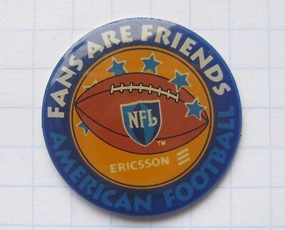 NFL / FANS ARE FRIENDS / AMERICAN FOOTBALL / ERICSSON ... Sport-Pin (122d)