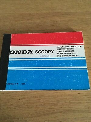 Honda SH50 Scoopy Owners Manual
