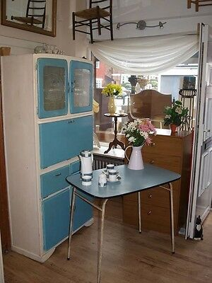 1950s vintage larder, kichen cabinet/cupboard and matching table