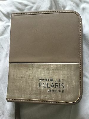 United Airlines POLARIS Business first Amenity Kit (in Flight Product) grey