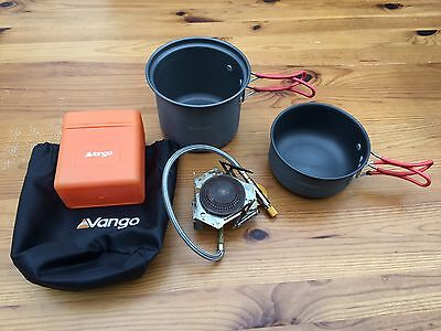 Vango Cooking Pots x2 and Vango Lightweight Camping Stove - One Person