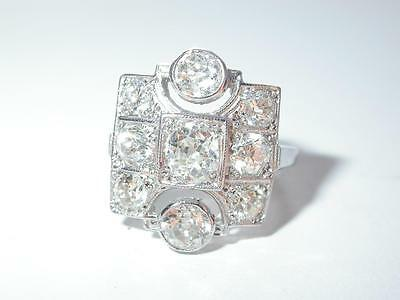 VINTAGE 18ct GOLD 2.6ct OLD CUT DIAMOND RING