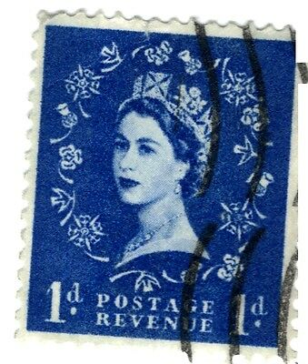 IR - (a) UK USED STAMP, Queen Elizabeth II, 3 stamps, 12 1/2p, 1d and 4d