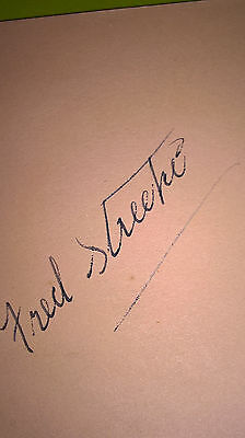 Speedway rider  autograph from the 30s. Fred Strecker