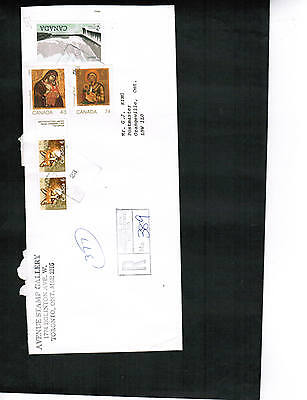 CANADA  SPECIAL REGISTERED COVER 6 stamps USED   Lot E45