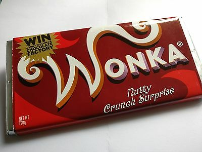 Wonka Bar Nutty Crunch Surprise - Genuine Johnny Depp Film Prop Memorabilia