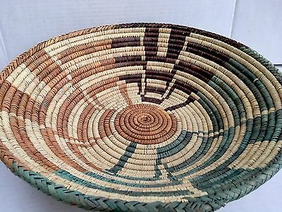 Navajo Style  Basket DECORATIVE Woven BOWL Large 17 inches NEW SOUTH WESTERN