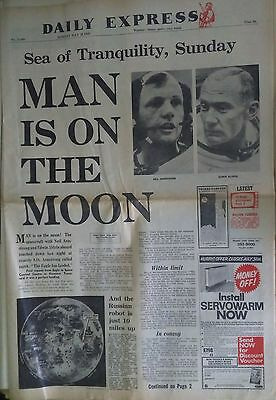 OLD VINTAGE NEWSPAPER First Moon, Landing Various Daily's July 1969