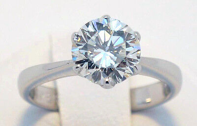 18ct White Gold Diamond Solitaire Engagement ring 1.36ct  VVS Brand New