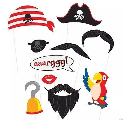 Pirate Party Photo Props 10 pk