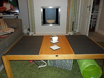 Large Oak & Slate effect Coffee Table with Storage