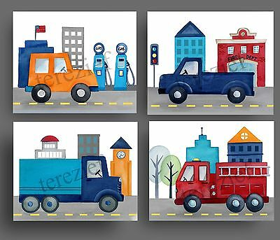things that go art prints for bedding car truck BABY BOY NURSERY pictures