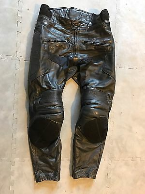 Texpeed Leather Motorcycle Trousers Size 32/30 Short Leg