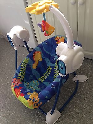 Fisher-Price Space Saver Swing and Seat - Ocean Wonders