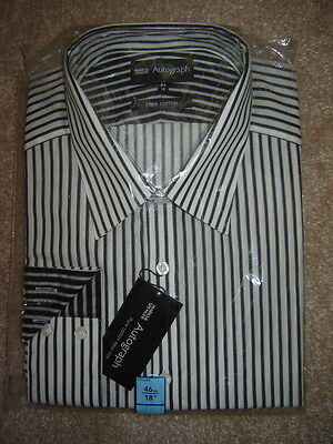 M&s Autograph Mens Cotton Shirt Size 18 New Unopened Cost £35.00.