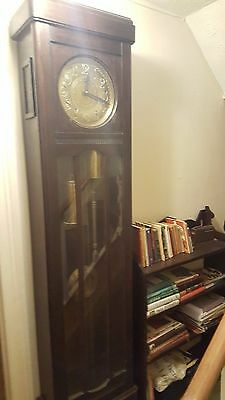 Grandfather longcase Clock With Westminster Chimes, Brass Dial