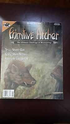 Primitive Archer Magazine -Bowhunting. Back issue. Volume 9, Issue 1