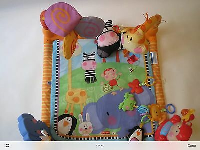 Fisher Price Baby Mat Play Musical Playmat Toy Gym Activity Soft Toys Music Fun
