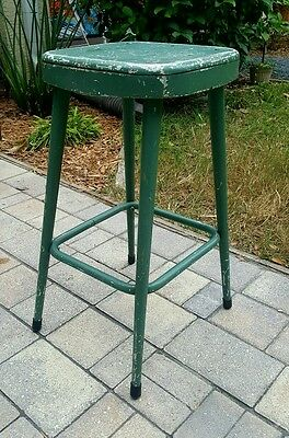 Vintage Midcentury Stool Industrial Stool Machine Age Metal Shop Kitchen Stool