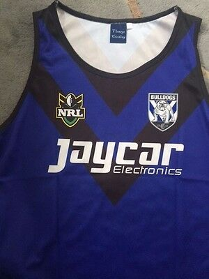 Canterbury bulldogs rugby league vest size small no 1