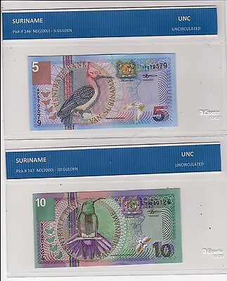 Suriname - Lot Of 3  Notes   --  Unc