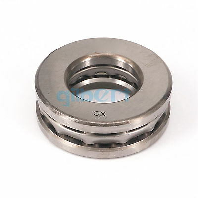 51412 60x130x51mm Axial Ball Thrust Bearing Set(2 Steel Races + 1 Cage)ABEC-1