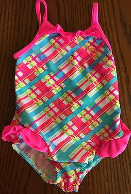 Girls size 24 months OP pink one piece swim swimming suit