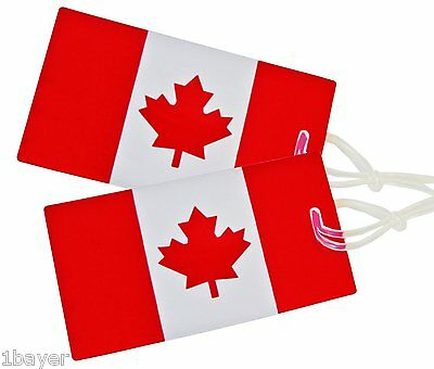 Samsonite Luggage Canadian Flag Canada ID Travel Bag Backpack Tag (2pc)