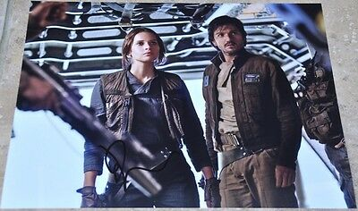 "Felicity Jones Signed 10"" x 8"" Colour Photo Star Wars Rogue One"