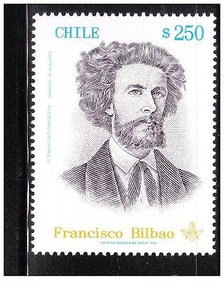 FRANCISCO BILBAO MINT STAMP ** MNH MASONIC MASONIC Freemasonry