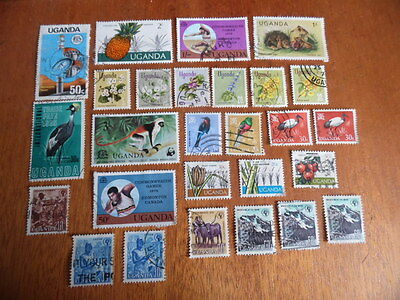 Uganda ~ Mixed Used ~ Only 1 Lot ( Some Paper Remnants )