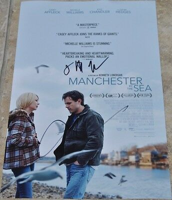 "Casey Affleck & Kenneth Lonergan Signed 12"" x 8"" Photo Manchester By The Sea"