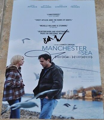 "Casey Affleck & Kenneth Lonergan Signed 12"" x 8"" Photo Manchester By The Sea (2)"