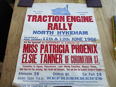 steam traction engine rally poster