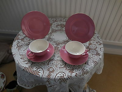 royal doulton LEIGHTON  china Cups Saucers Plates x 2