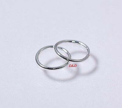 10mm High Quality Small 925 Sterling Silver thin hoops Earrings