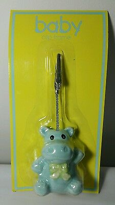Baby Clip Picture Frame Blue Hippo Brand New in Box!