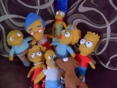 Official Simpson Family Soft Plush Toys With Tags The Simpsons Tv Film