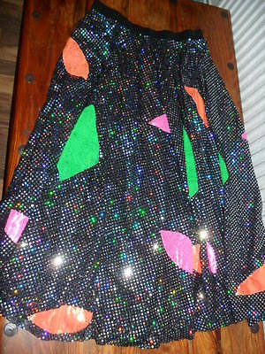 Womens Ladies Hand Made Sparkly Dance Skirt 10/12