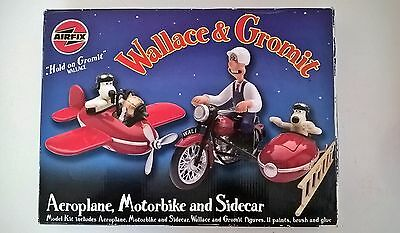 Airfix Wallace & Gromit Aeroplane Motorbike and Sidecar Model Kit