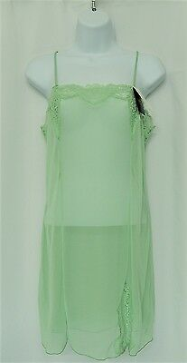 Wacoal Sheer Enough Chemise 814253 S M L XL Bamboo Slip Nightgown $115 New