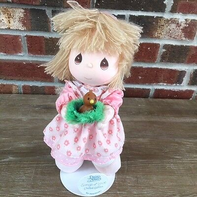 Precious Moments Songs Of Love Limited Edition Doll With Stand Bird Nest