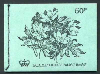 DT7 50p Booklet British Flowers 7. WOOD ANEMONE ~ AUGUST 1972