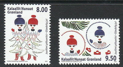 Groenland Année 2012  2 timbres noel 604-605