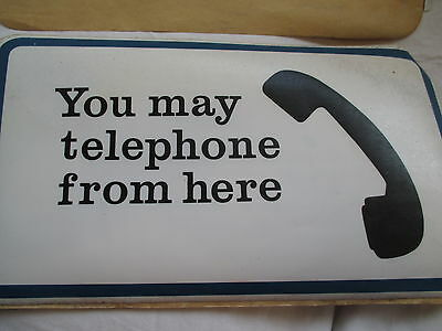 Vintage GPO post Office telephone British Telecom sign