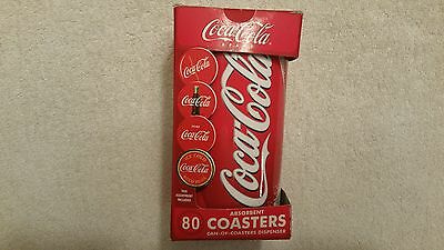 Coca Cola 80 Dispensible Coasters In A Large Coke Can, New In Box